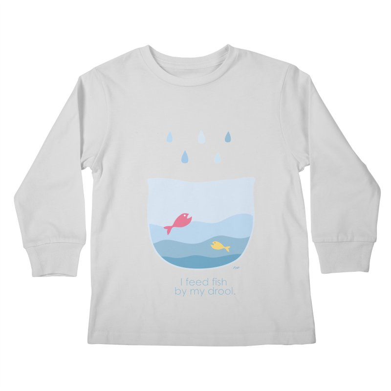 I feed fish by my drool Kids Longsleeve T-Shirt by YLTsai's Artist Shop