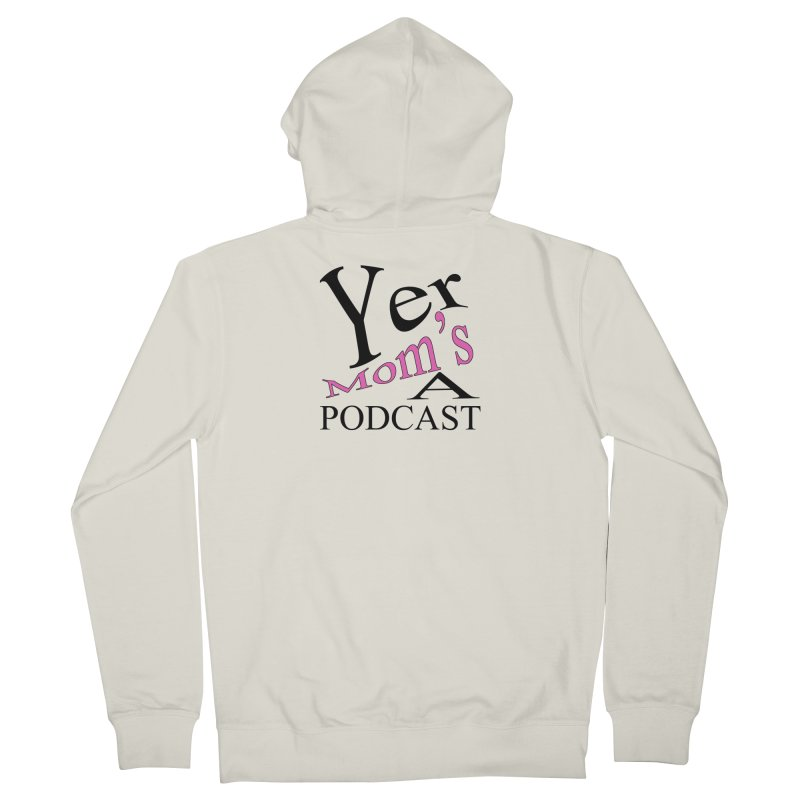 YMAP logo Men's French Terry Zip-Up Hoody by Yer Mom's A Podcast Artist Shop