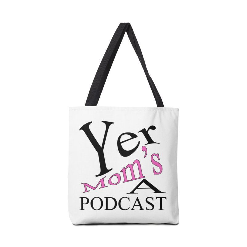 YMAP logo Accessories Tote Bag Bag by Yer Mom's A Podcast Artist Shop