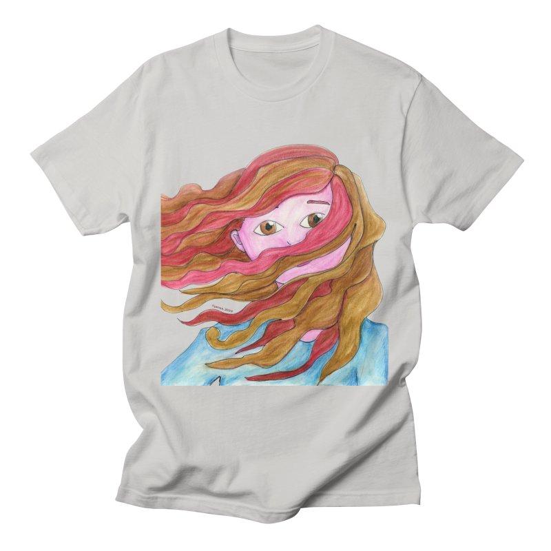 Windy hair Men's T-Shirt by Monera