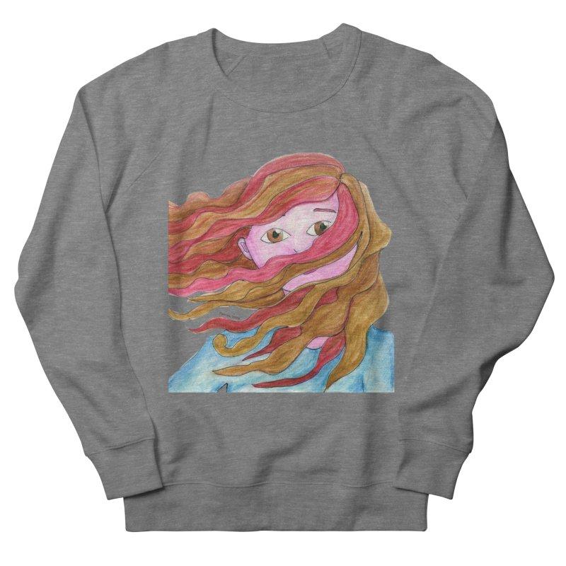 Windy hair Women's Sweatshirt by Monera