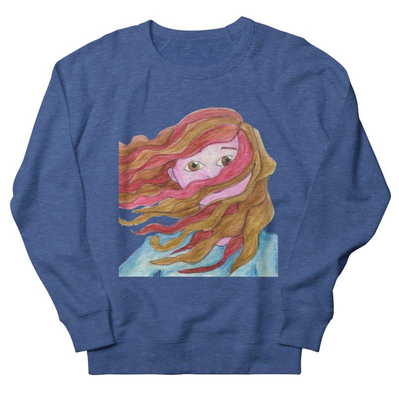 Windy hair Men's Sweatshirt by Monera