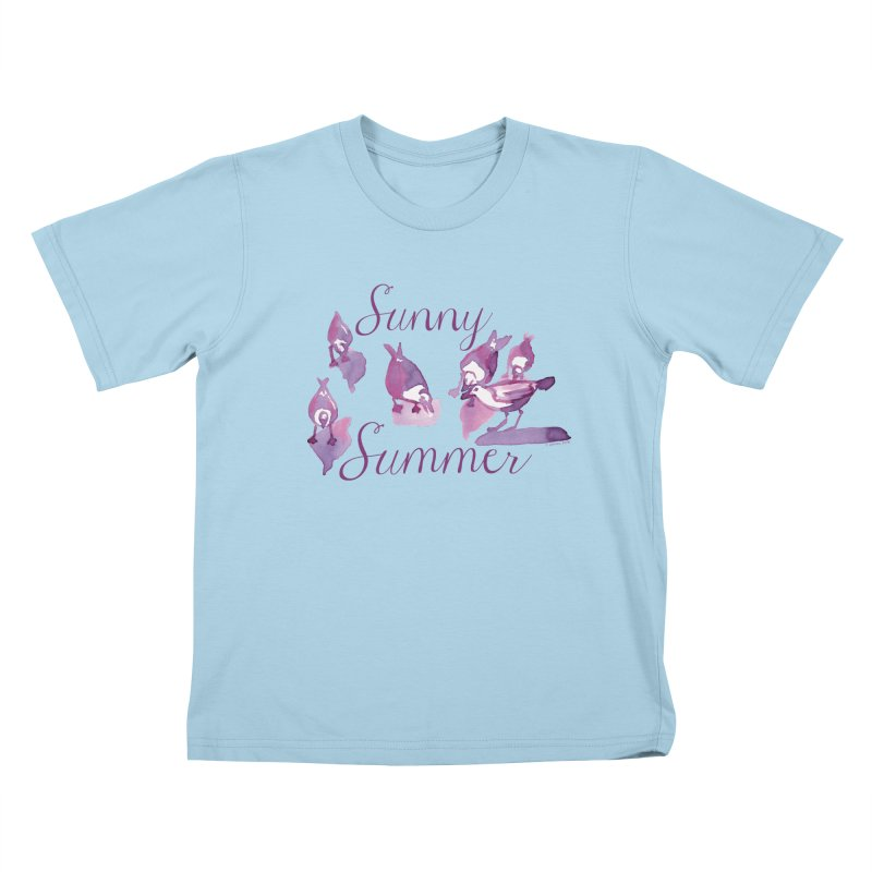 Sunny Summer Kids T-Shirt by Monera