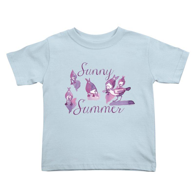 Sunny Summer Kids Toddler T-Shirt by Monera