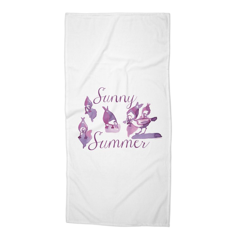 Sunny Summer Accessories Beach Towel by Monera