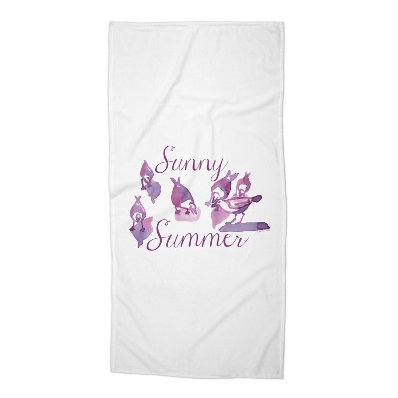 Sunny Summer Accessories Beach Towel by Monera