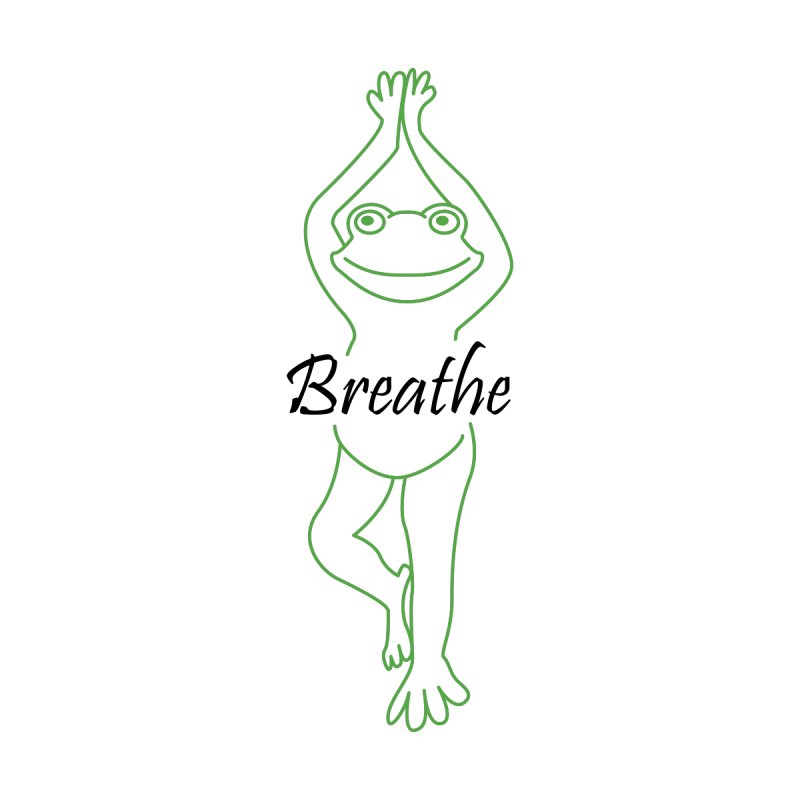 Yoga Frog Breathe by Yoga Frog's Artist Shop