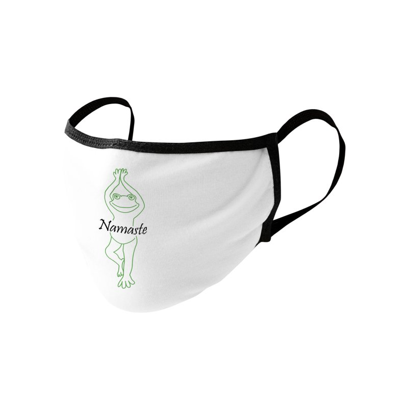 Yoga Frog Namaste Accessories Face Mask by Yoga Frog's Artist Shop