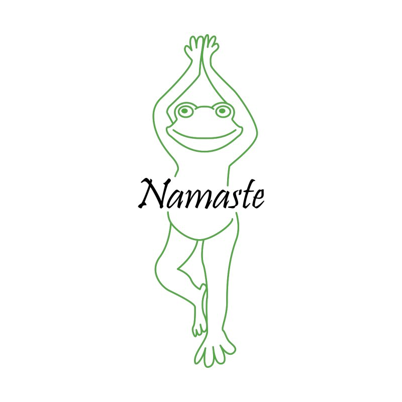 Yoga Frog Namaste Men's T-Shirt by Yoga Frog's Artist Shop