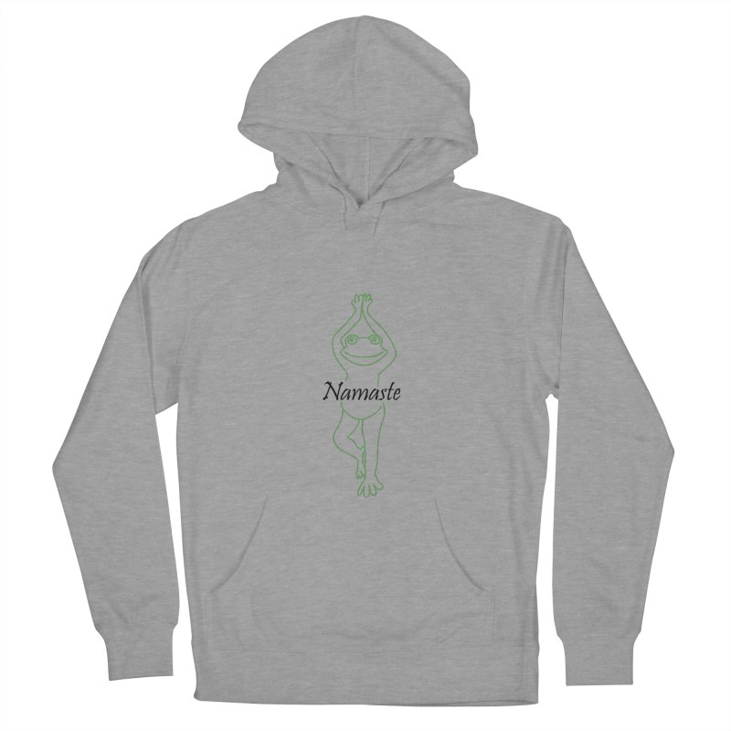 Yoga Frog Namaste Women's French Terry Pullover Hoody by Yoga Frog's Artist Shop