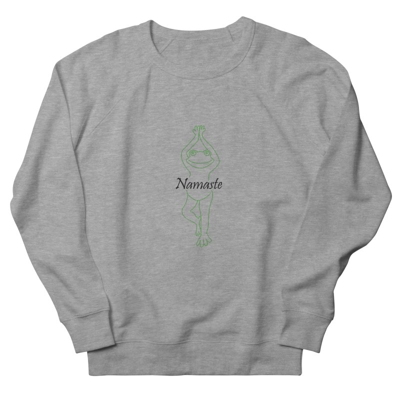 Yoga Frog Namaste Men's French Terry Sweatshirt by Yoga Frog's Artist Shop