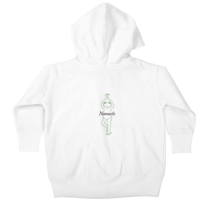 Yoga Frog Namaste Kids Baby Zip-Up Hoody by Yoga Frog's Artist Shop
