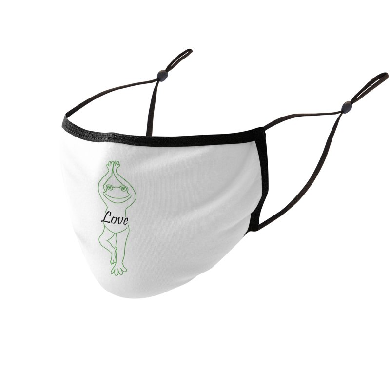 Yoga Frog Love Accessories Face Mask by Yoga Frog's Artist Shop
