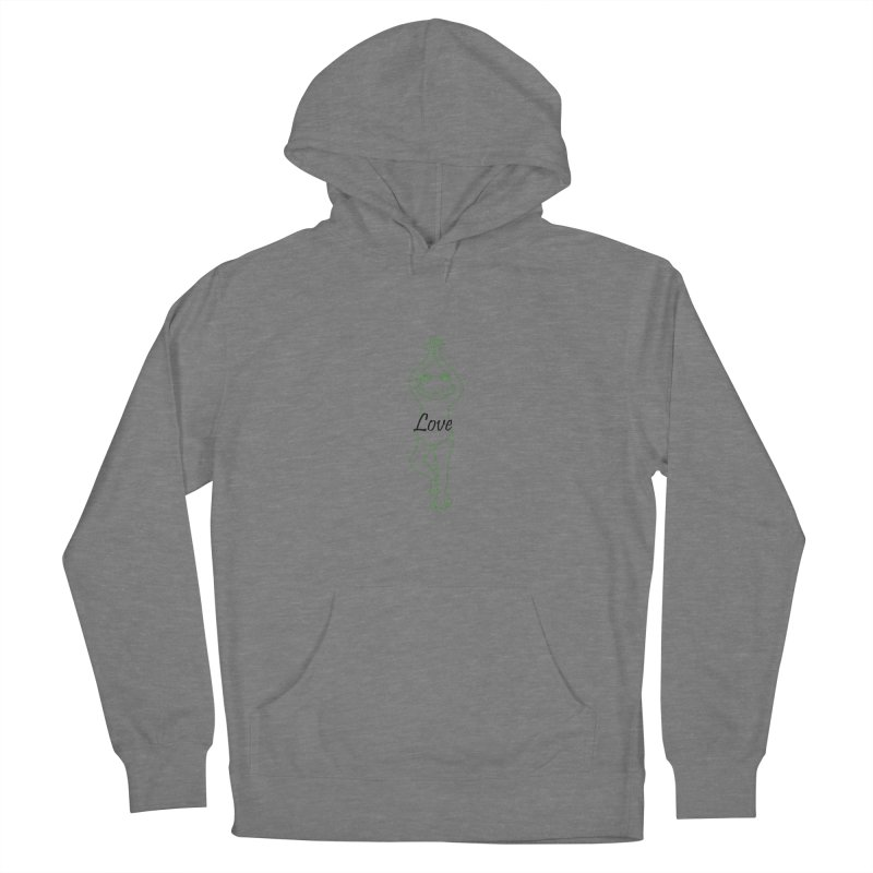 Yoga Frog Love Men's French Terry Pullover Hoody by Yoga Frog's Artist Shop