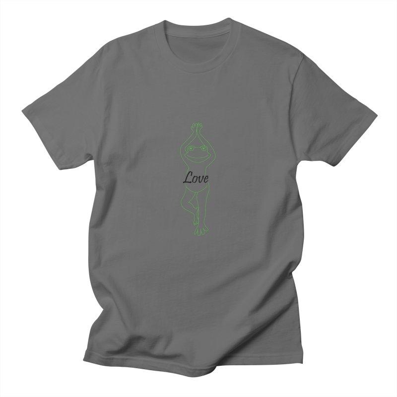 Yoga Frog Love Men's T-Shirt by Yoga Frog's Artist Shop