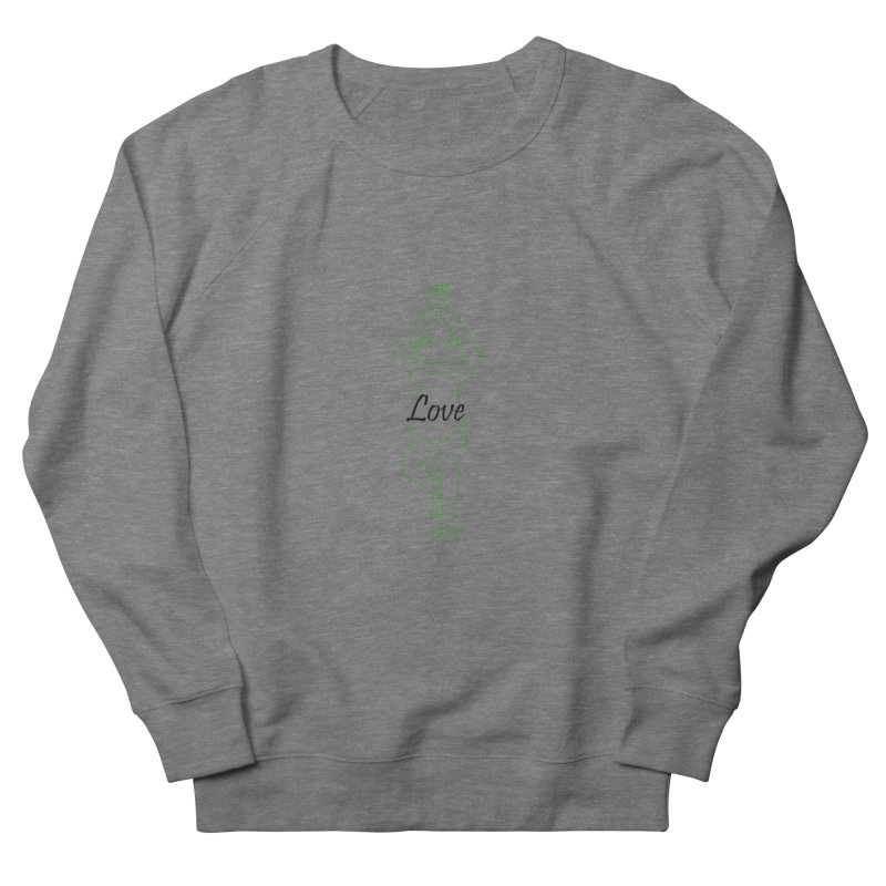 Yoga Frog Love Men's French Terry Sweatshirt by Yoga Frog's Artist Shop