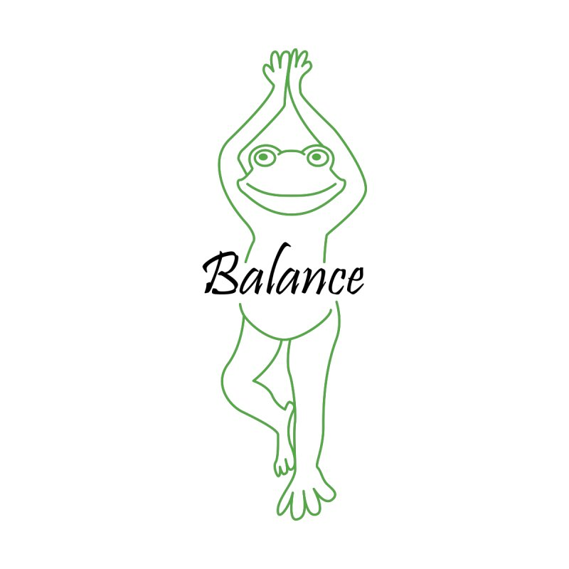 Yoga Frog Balance Accessories Notebook by Yoga Frog's Artist Shop