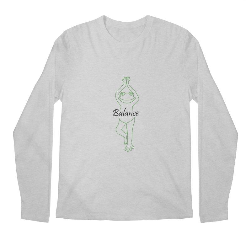 Yoga Frog Balance Men's Regular Longsleeve T-Shirt by Yoga Frog's Artist Shop