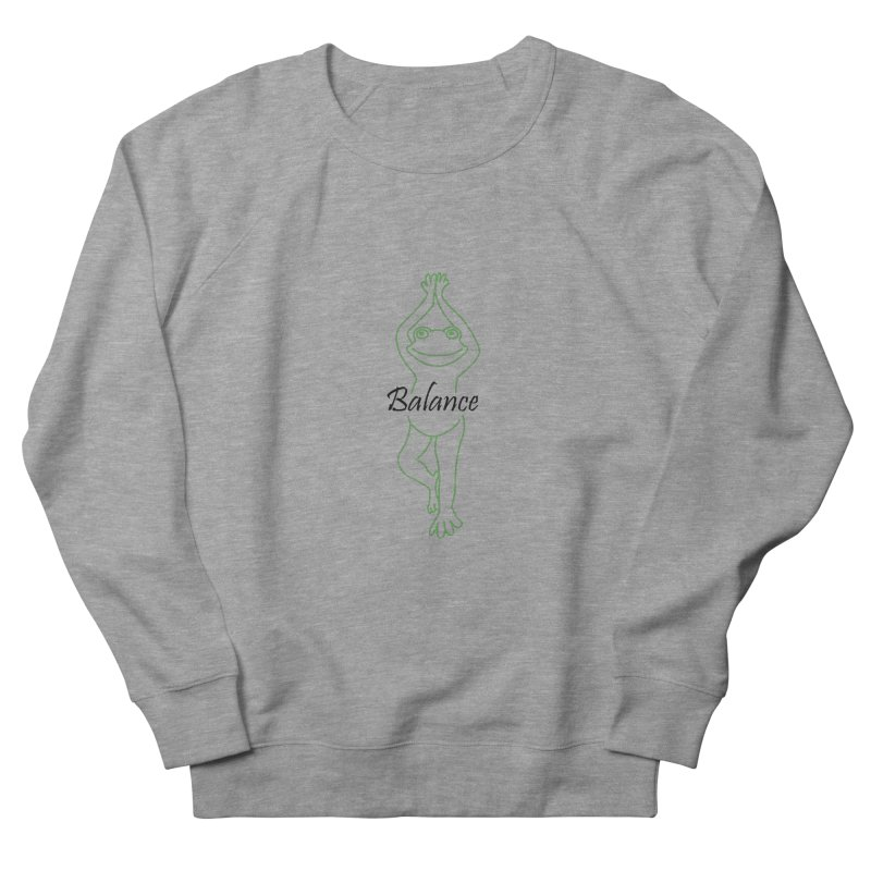 Yoga Frog Balance Men's French Terry Sweatshirt by Yoga Frog's Artist Shop