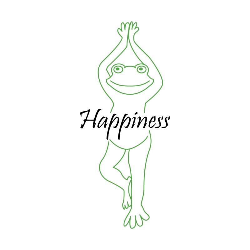 Yoga Frog Happiness by Yoga Frog's Artist Shop