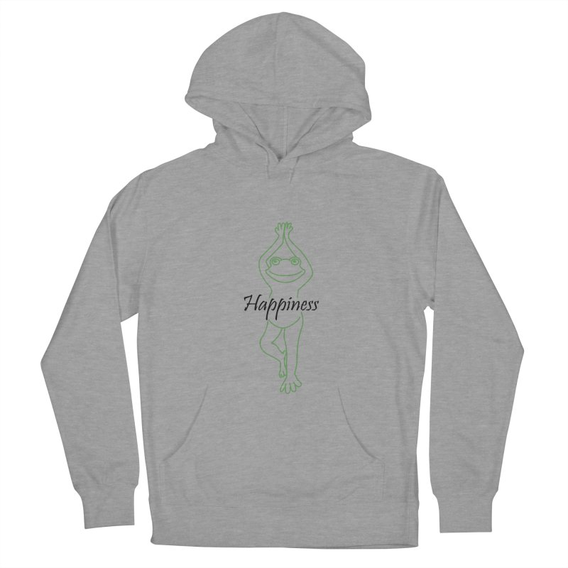 Yoga Frog Happiness Women's French Terry Pullover Hoody by Yoga Frog's Artist Shop