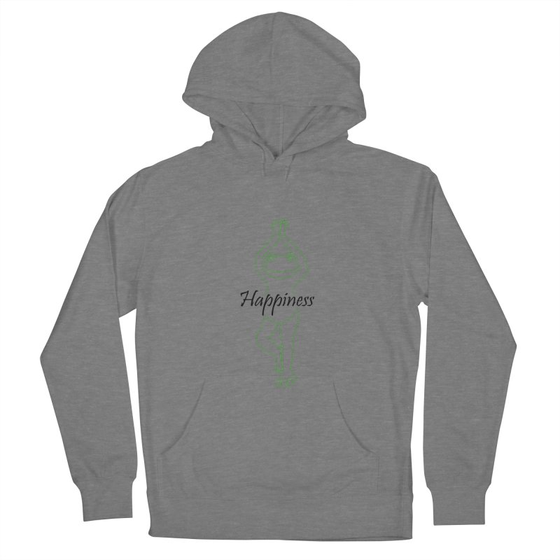 Yoga Frog Happiness Men's French Terry Pullover Hoody by Yoga Frog's Artist Shop