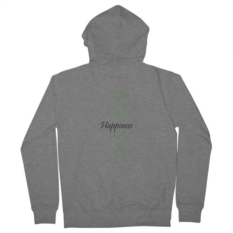 Yoga Frog Happiness Men's French Terry Zip-Up Hoody by Yoga Frog's Artist Shop