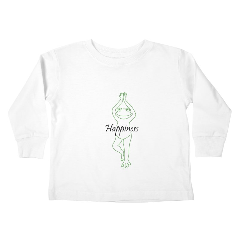 Yoga Frog Happiness Kids Toddler Longsleeve T-Shirt by Yoga Frog's Artist Shop
