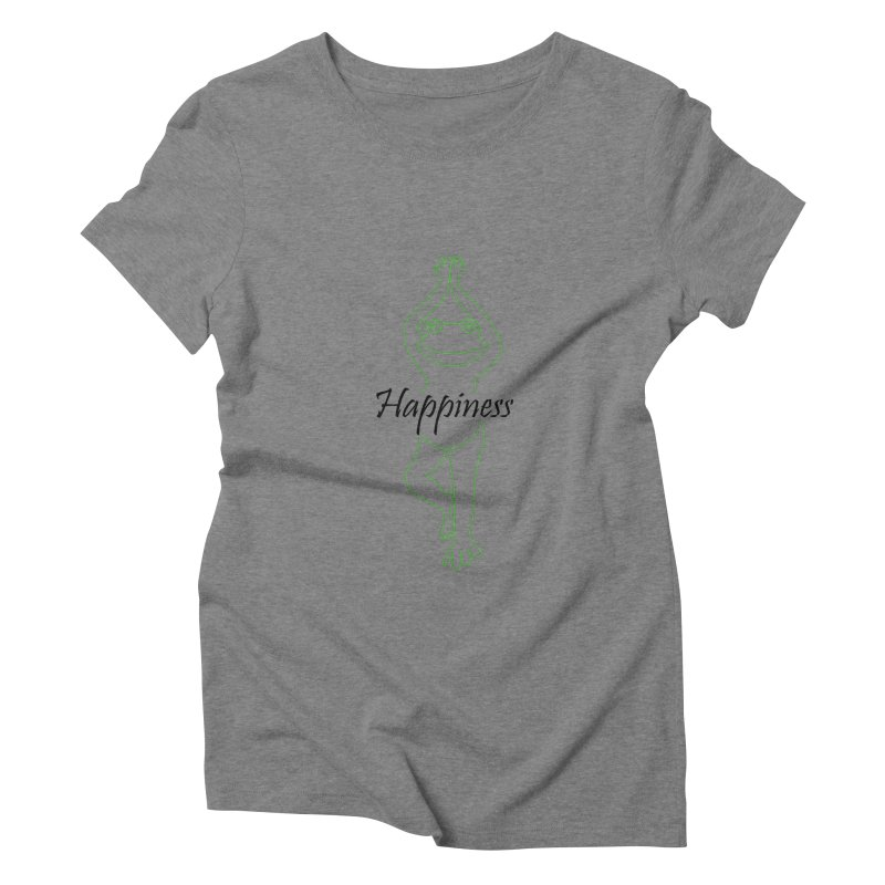 Yoga Frog Happiness Women's Triblend T-Shirt by Yoga Frog's Artist Shop