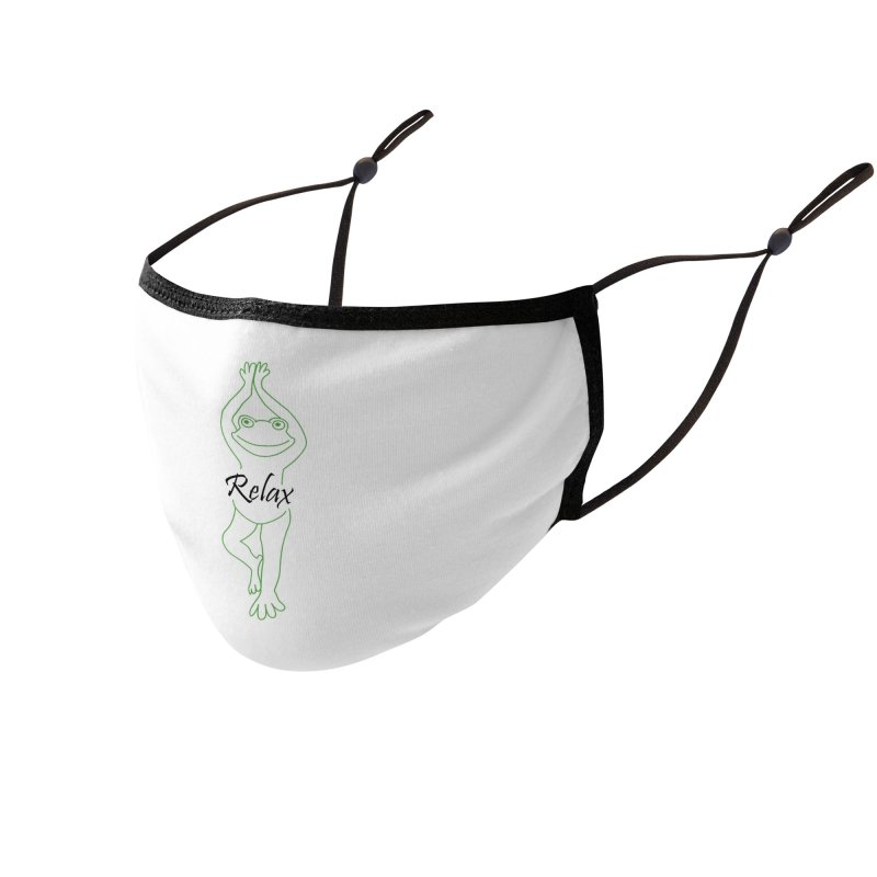 Yoga Frog Relax Accessories Face Mask by Yoga Frog's Artist Shop