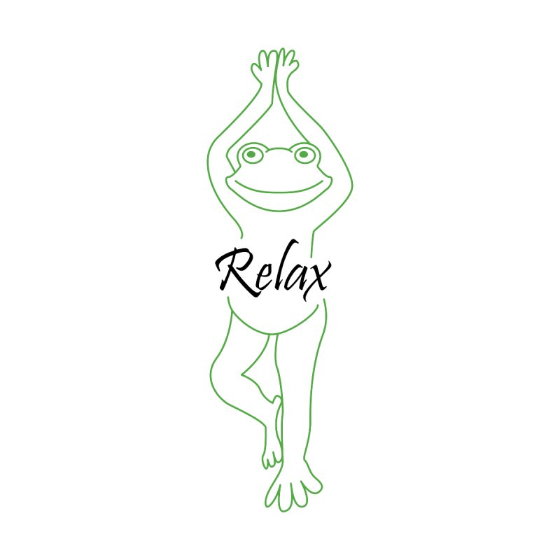 Yoga Frog Relax Accessories Notebook by Yoga Frog's Artist Shop