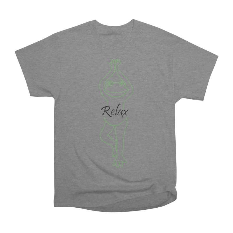 Yoga Frog Relax Women's Heavyweight Unisex T-Shirt by Yoga Frog's Artist Shop