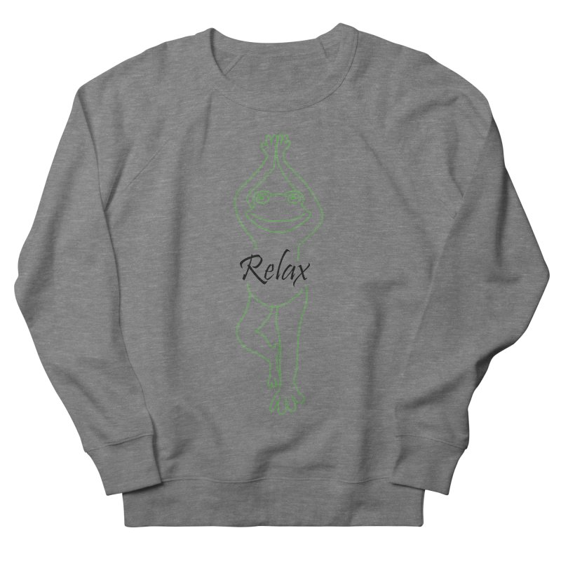 Yoga Frog Relax Women's French Terry Sweatshirt by Yoga Frog's Artist Shop