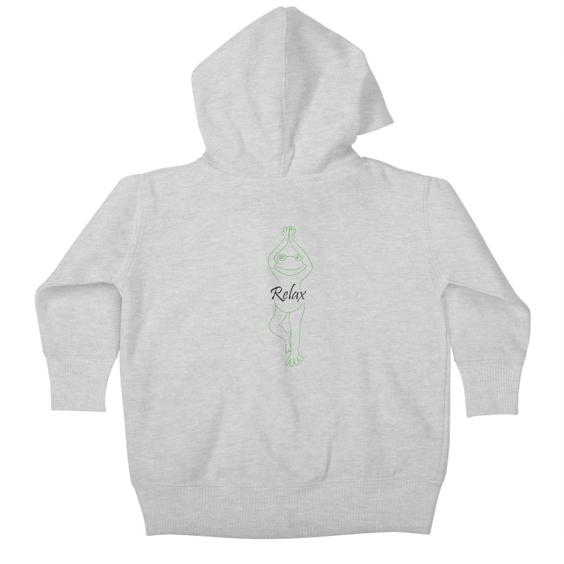 Yoga Frog Relax Kids Baby Zip-Up Hoody by Yoga Frog's Artist Shop