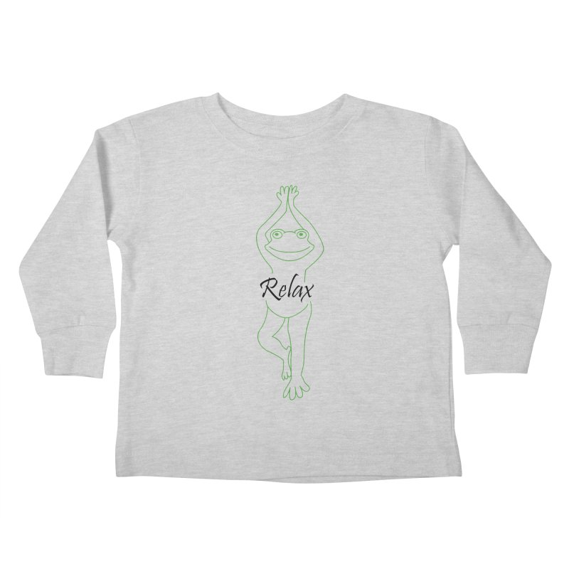 Yoga Frog Relax Kids Toddler Longsleeve T-Shirt by Yoga Frog's Artist Shop