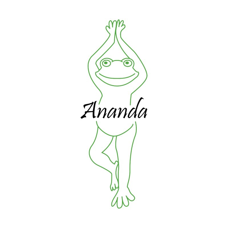 Yoga Frog Ananda Women's V-Neck by Yoga Frog's Artist Shop