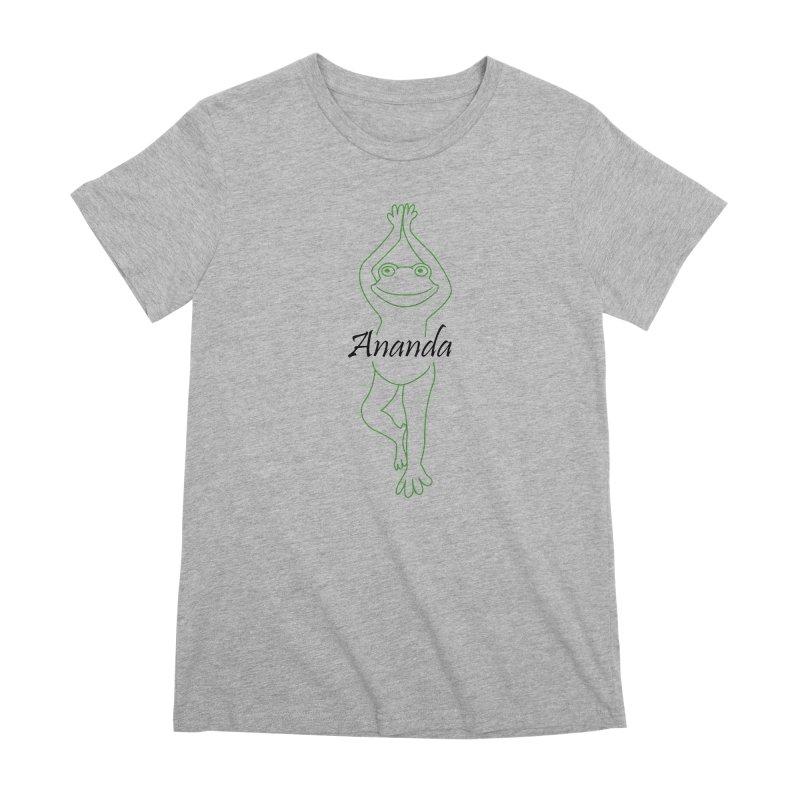 Yoga Frog Ananda Women's Premium T-Shirt by Yoga Frog's Artist Shop