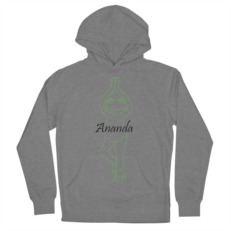Yoga Frog Ananda Men's French Terry Pullover Hoody by Yoga Frog's Artist Shop