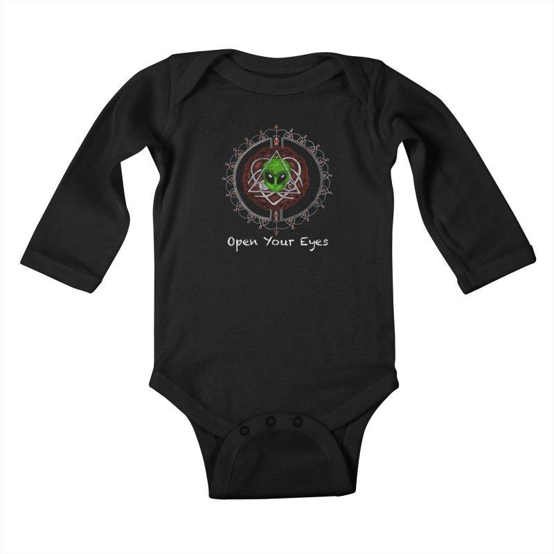 Open Your Eyes Tee Kids Baby Longsleeve Bodysuit by YoonekleeDesign's Artist Shop