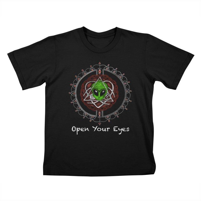 Open Your Eyes Tee Kids T-shirt by YoonekleeDesign's Artist Shop