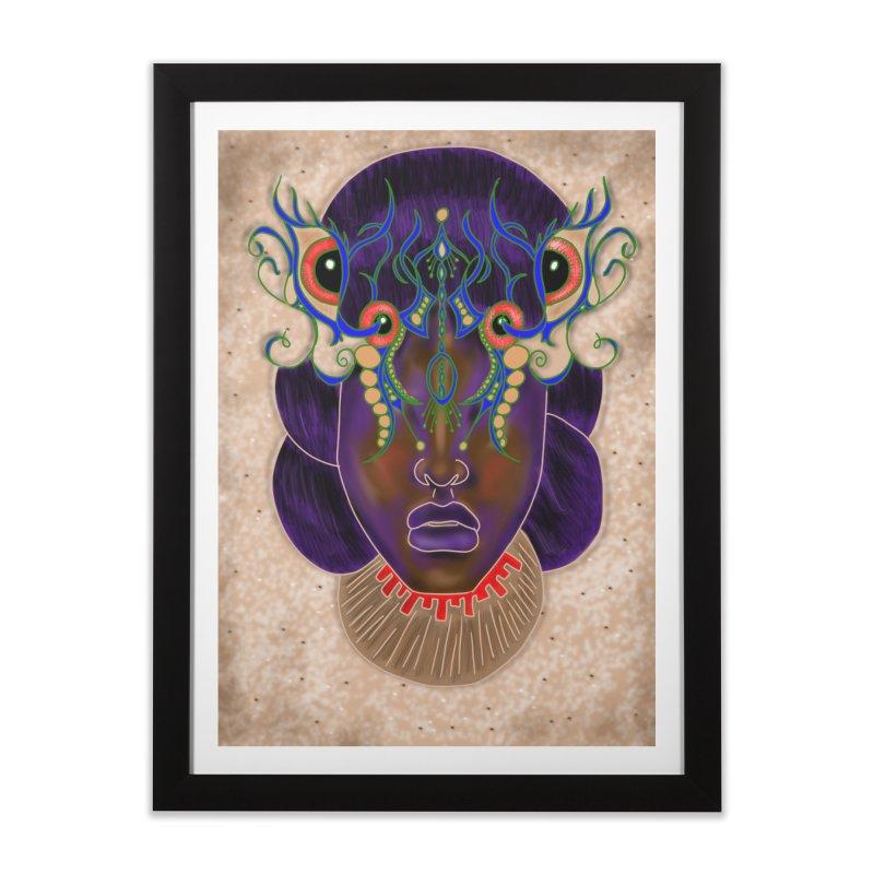African Mask Digital Painting Home Framed Fine Art Print by YoonekleeDesign's Artist Shop