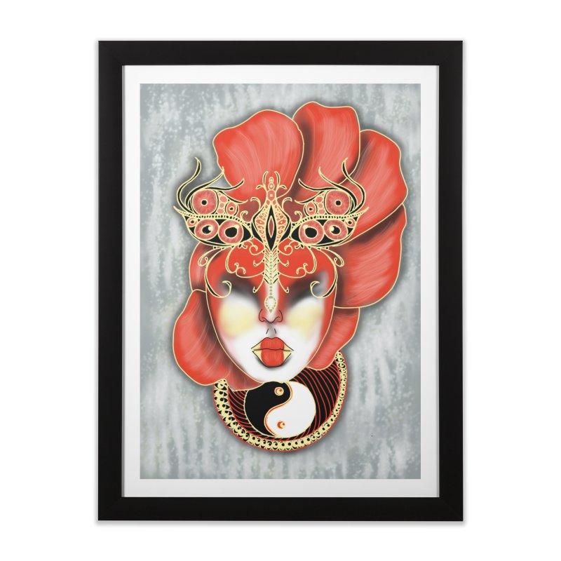 Asian Mask Digital Painting Home Framed Fine Art Print by YoonekleeDesign's Artist Shop