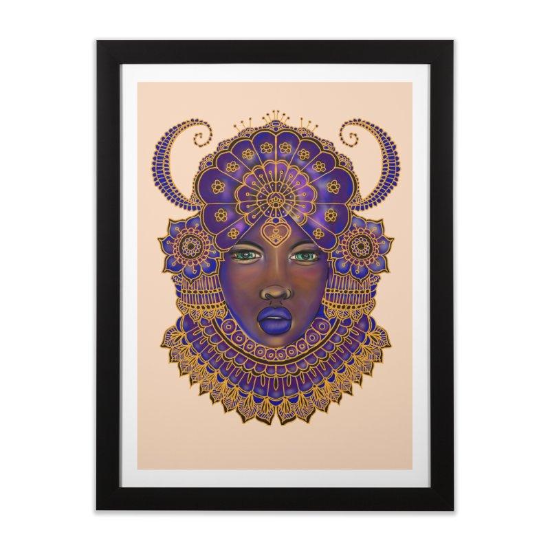 African Queen Digital Painting  Home Framed Fine Art Print by YoonekleeDesign's Artist Shop