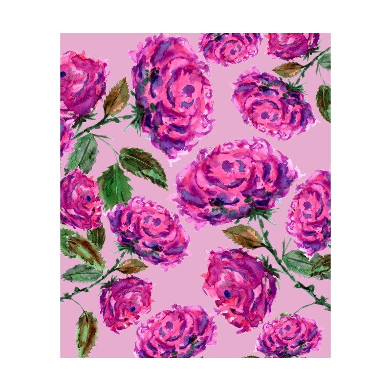Purple Roses Floral Pattern by ZeichenbloQ's Artist Shop