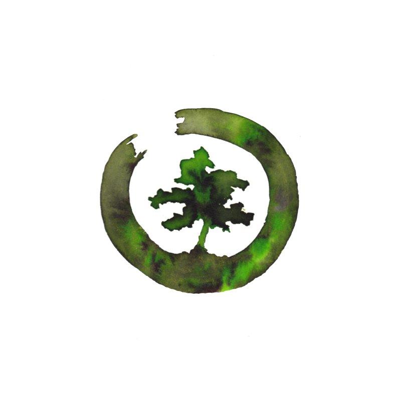 Green Enso Bonsai Circle by ZeichenbloQ's Artist Shop