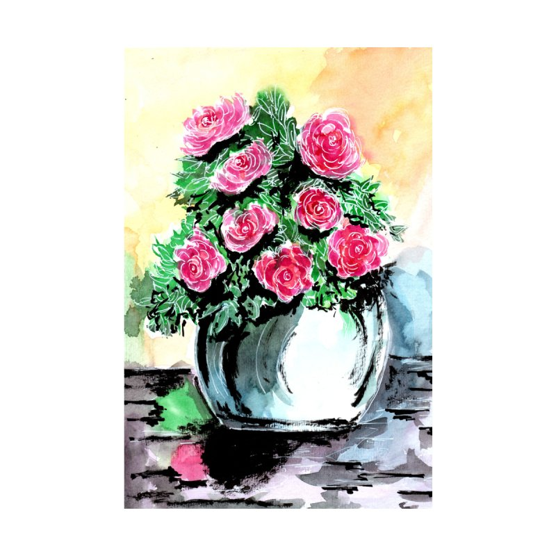 Red Peonies in a Vase by ZeichenbloQ's Artist Shop