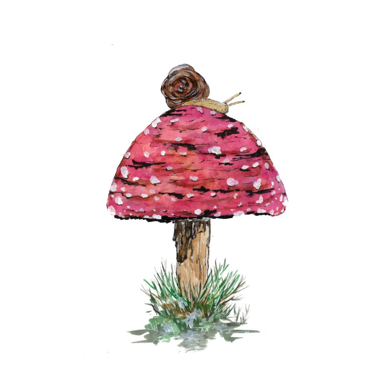 Fly Agaric Toadstool Mushroom and Snail by ZeichenbloQ's Artist Shop
