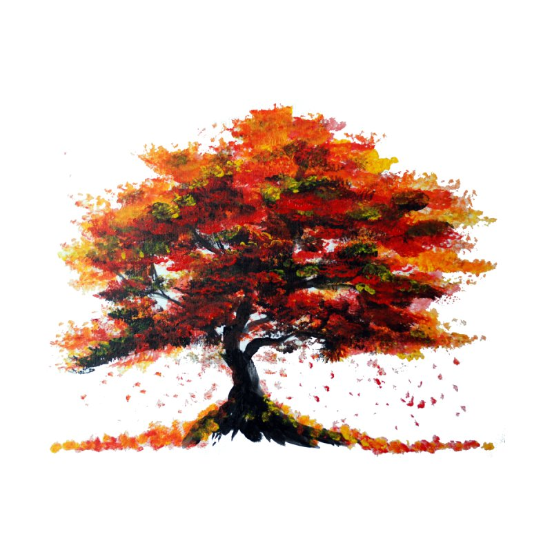 Red Autumn Tree by ZeichenbloQ's Artist Shop
