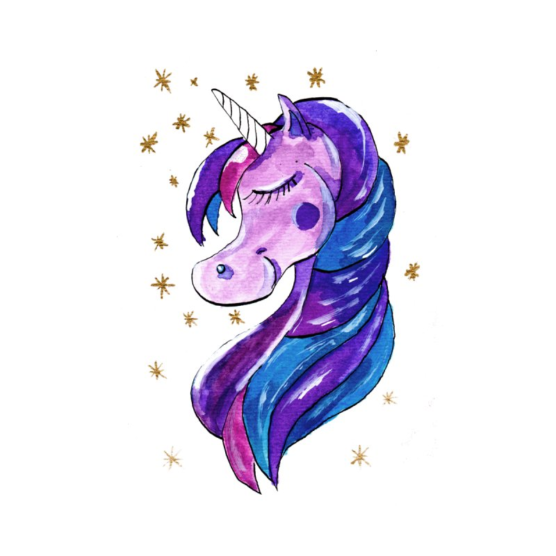 Sparkling Purple Unicorn by ZeichenbloQ's Artist Shop