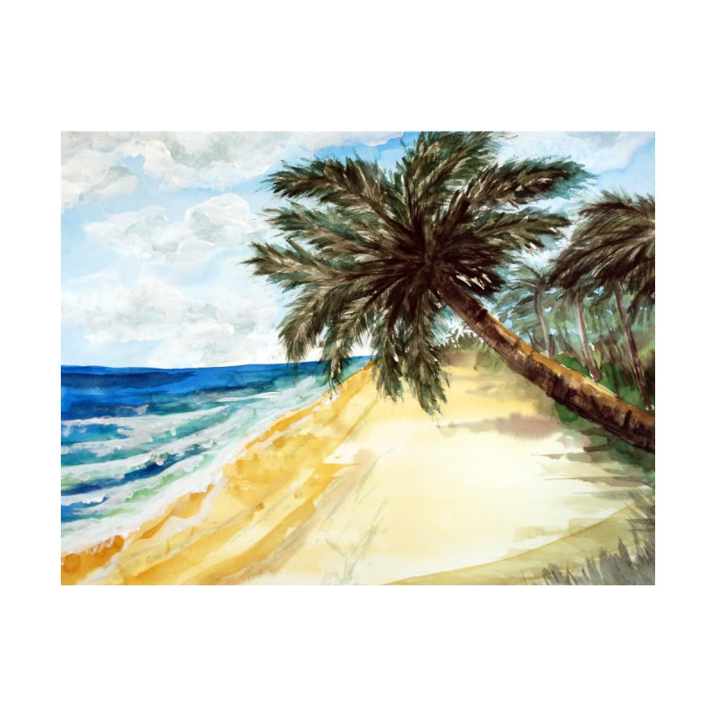 Beach with Palm Trees by ZeichenbloQ's Artist Shop